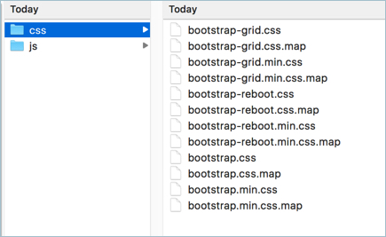 Bootstrap Precompiled CSS Files