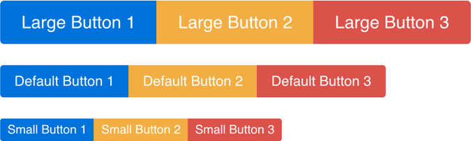 Button Group Resizing