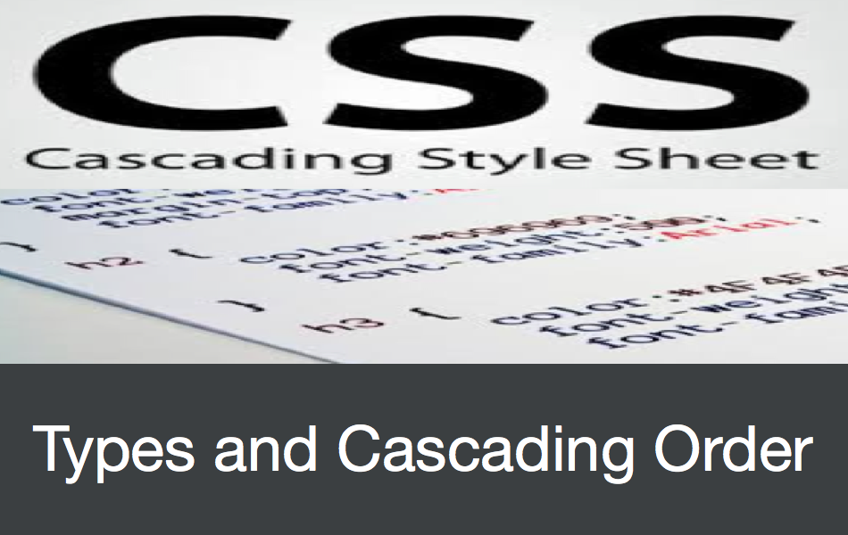 CSS Types and Cascading Order Determination