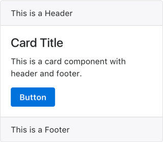 Card with Header and Footer