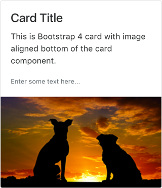 Card with Image Down