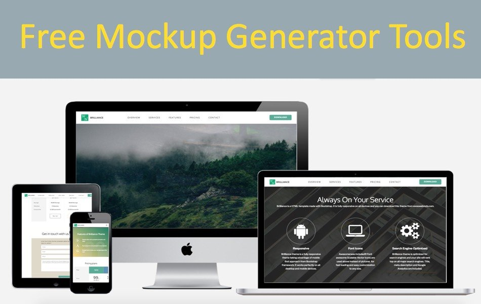 5 Free Mockup Generator Tools to Create Device Mockups