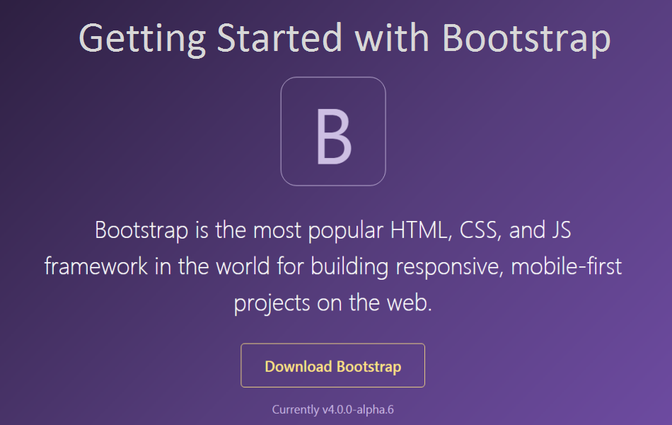 Getting Started With Bootstrap