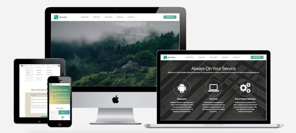 Brilliance Bootstrap Theme