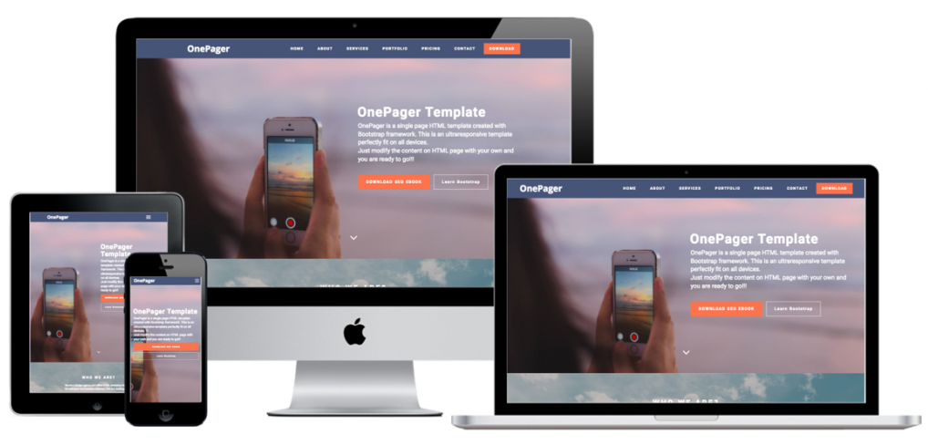 OnePager Bootstrap Template
