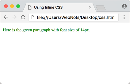 Using Inline CSS