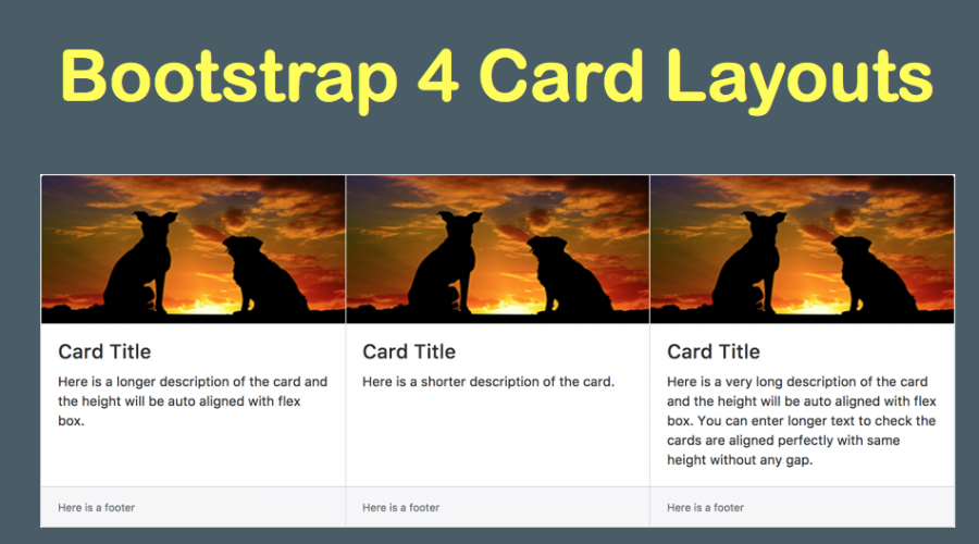 Bootstrap 4 Card Layout Tutorial