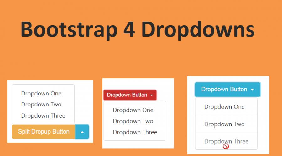 Bootstrap 4 Dropdowns Tutorial » WebNots