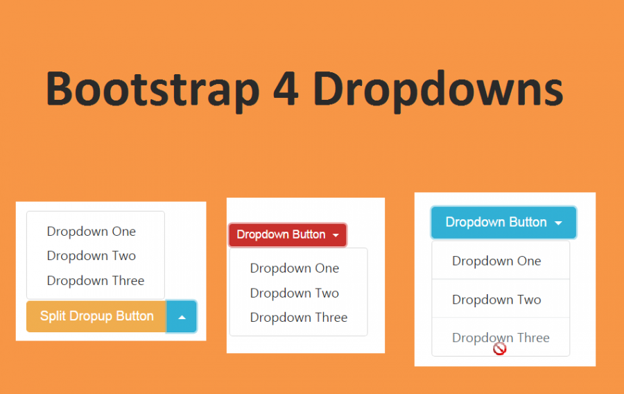 Bootstrap 4 Dropdowns