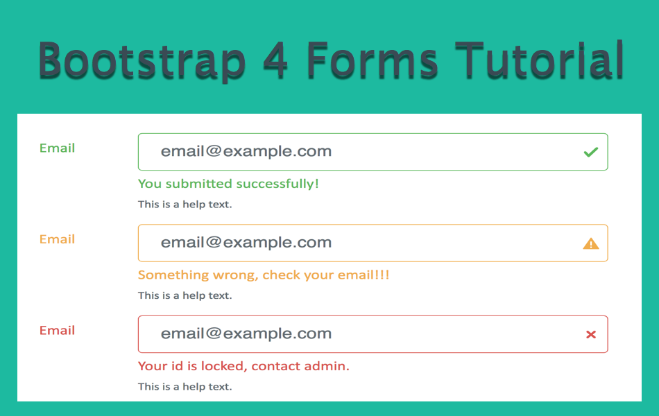 Bootstrap 4 Forms Tutorial