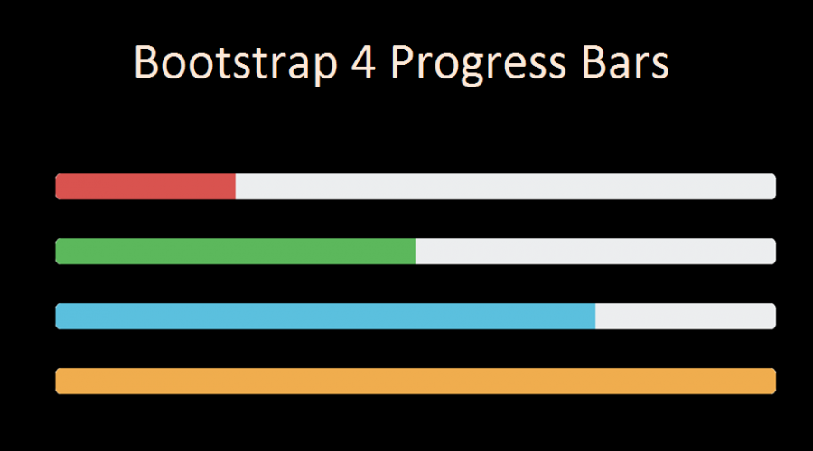Bootstrap 4 Progress Bars Tutorial