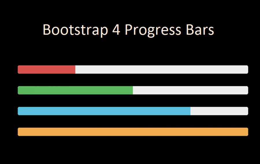 Bootstrap 4 Progress Bars Tutorial