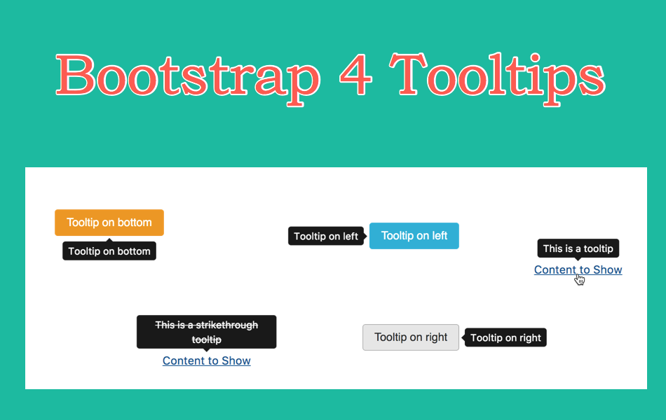 Bootstrap 4 Tooltips Tutorial