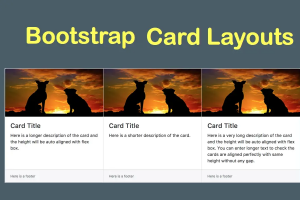 Bootstrap Card Layouts