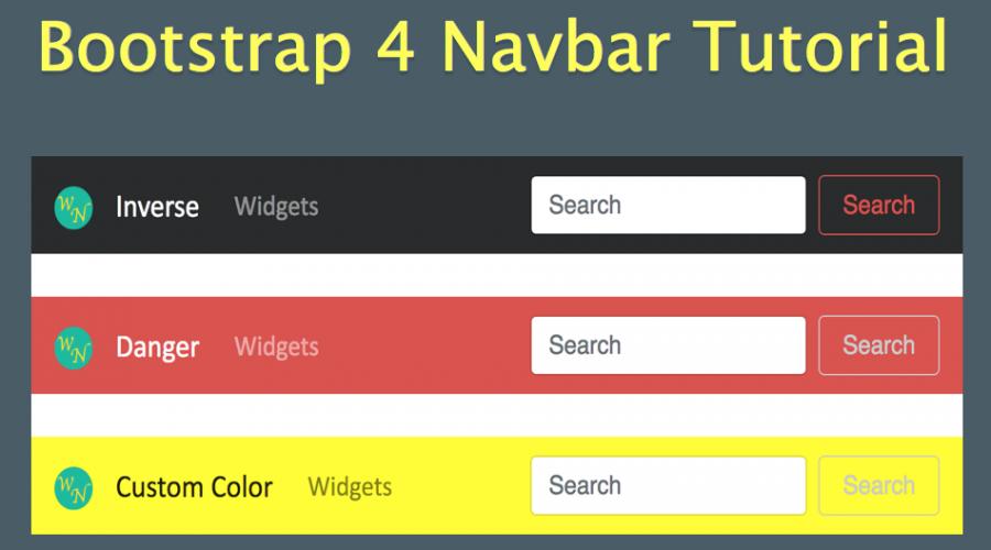 Bootstrap 4 Navbar Tutorial » WebNots