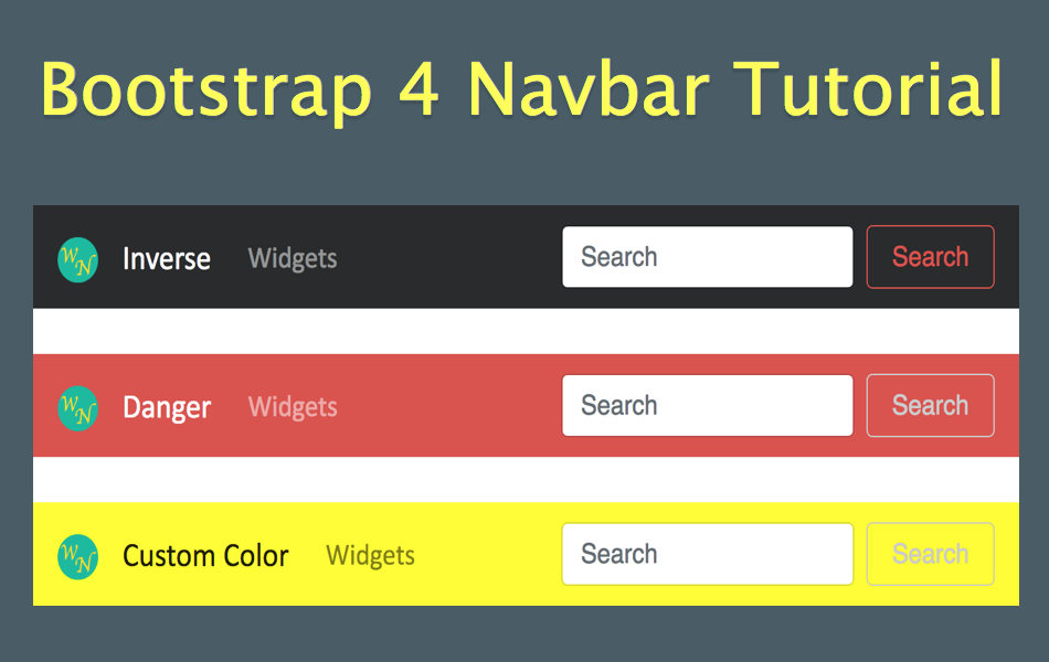 Image result for Top Navigation Bar Widgets for 2018: Bootstrap and jQuery Mobile