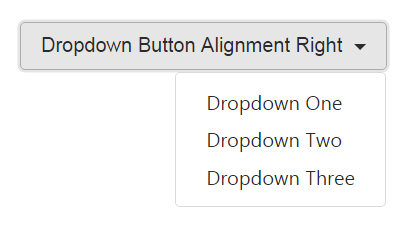 Dropdown Button Menu Right Alignment