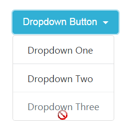 Dropdown Button with Divider and Disabled
