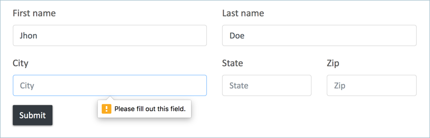 Form Validation with Browser Defaults