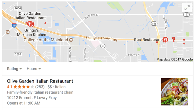 Google Maps in Search Results