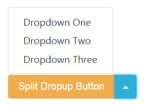 Split Dropup Button