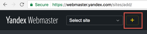 Add Site in Yandex Webmaster Tools Account