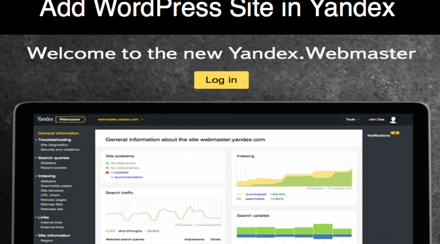 How to Add WordPress Site in Yandex Webmaster Tools?