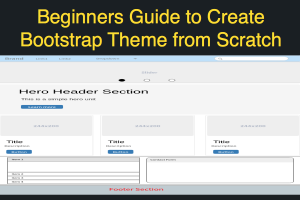 Beginners Guide to Create Bootstrap Theme from Scratch