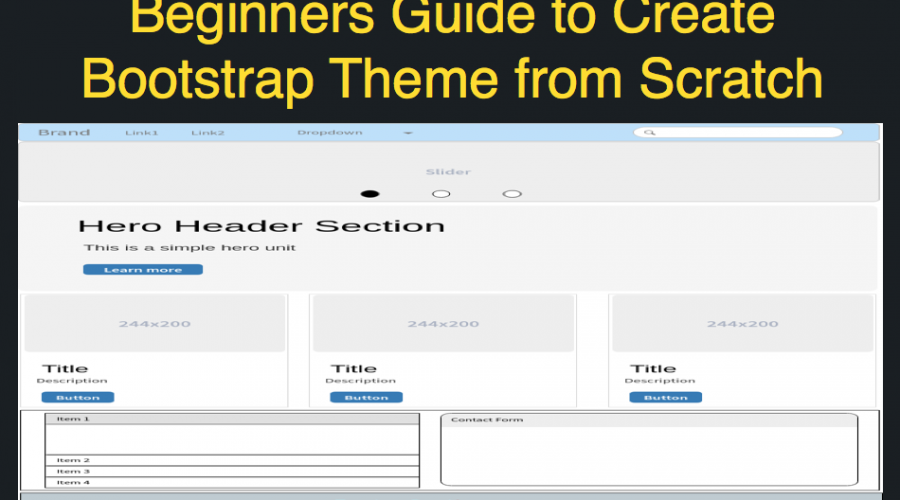 How to Create Your Own Bootstrap 4 Theme from Scratch » WebNots