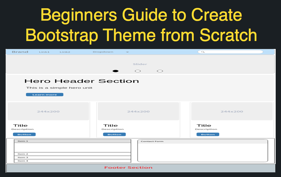 How to Create Your Own Bootstrap 4 Theme from Scratch