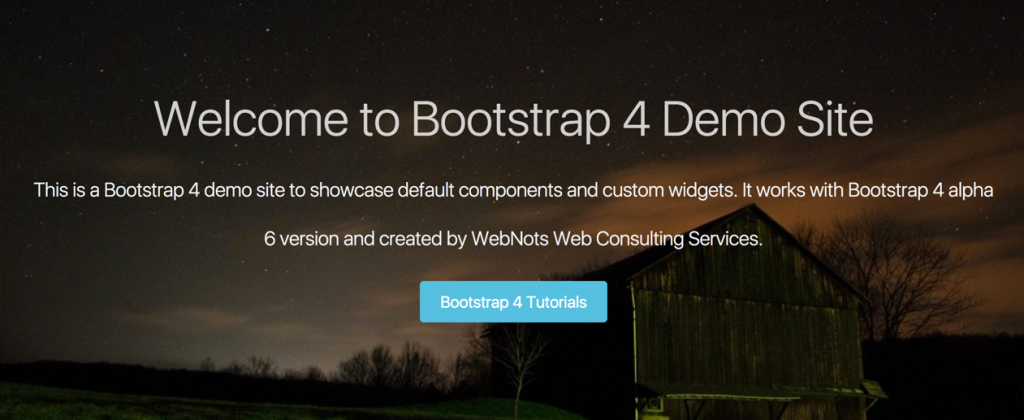 Bootstrap 4 Parallax Page with Jumbotron