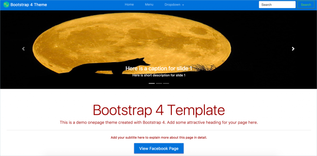Bootstrap 4 Theme