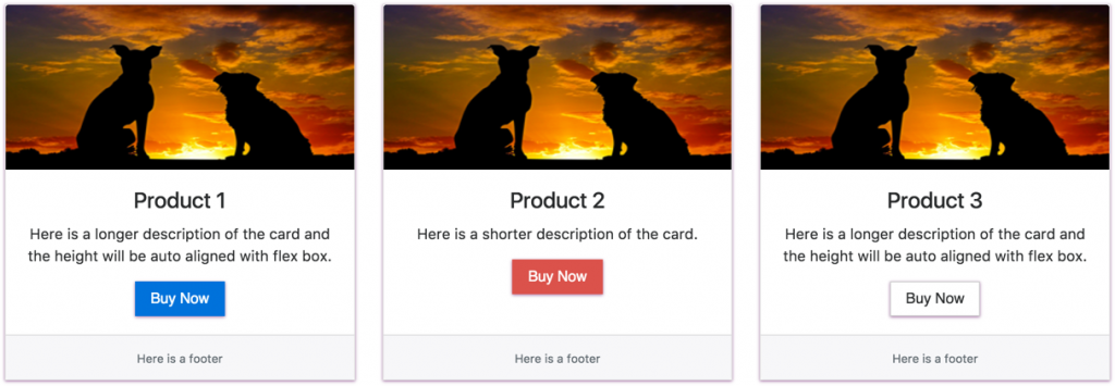 Bootstrap Deck Card Layout