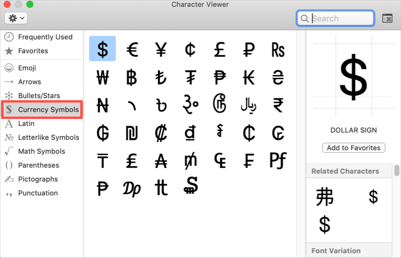 Alt Code Shortcuts for Currency Symbols » WebNots