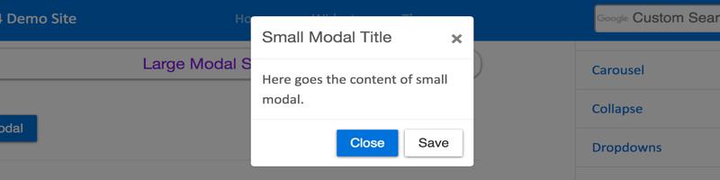 Smaller Modal