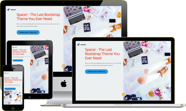 Spacer Bootstrap 4 Template