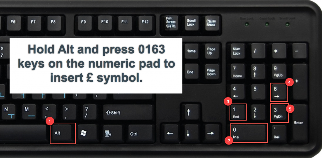 How to type pound symbol on spanish keyboard