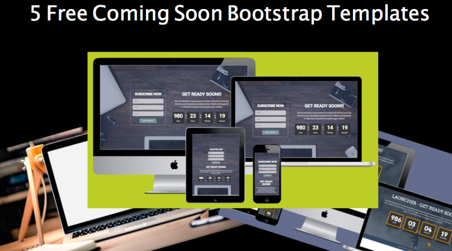 5 Free Coming Soon Bootstrap Templates