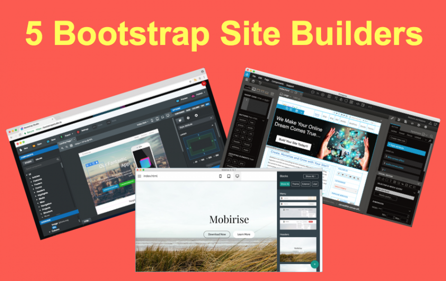 5 Bootstrap Site Builders to Create Your Site or Theme