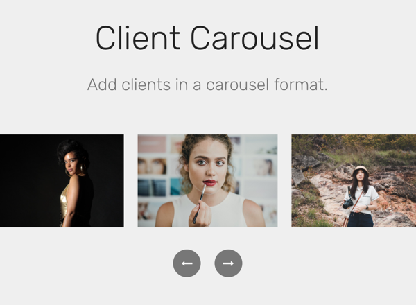 Client Carousel Section