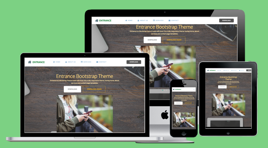 Entrance Bootstrap 4 Theme