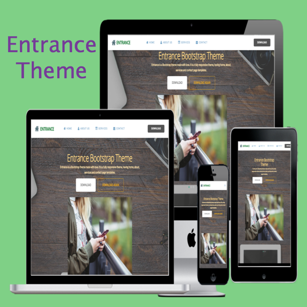 Entrance Bootstrap Theme