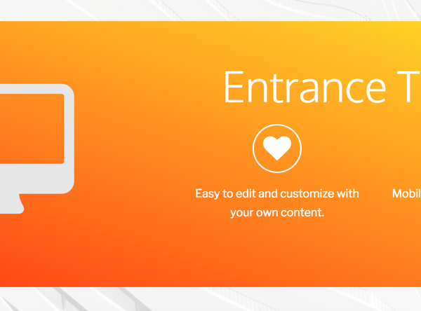Entrance Theme Home Page