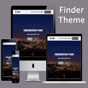 Finder Bootstrap 4 Theme