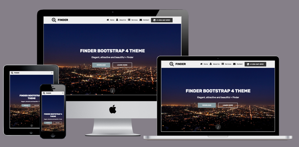Finder Responsive Bootstrap 4 Theme