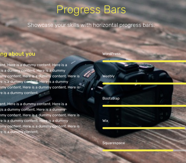 Parallax Progress Bars