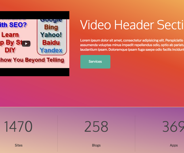 Video Header Section