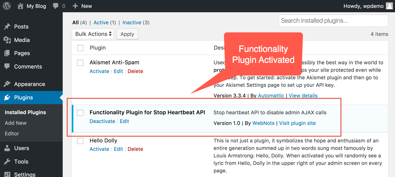 Active Functionality Plugin