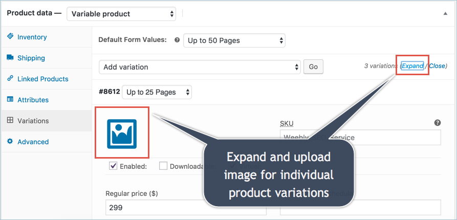 Add Featured Image for Product Variations