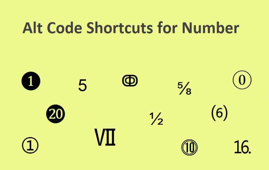 Alt Code Shortcuts for Circled Numbers